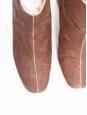 Bottines à talon épais en velours rose NEUVES Taille 38