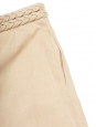 Jupe à ceinture tressée en ramie, lin et soie beige rosé Px boutique 850€ Taille 40