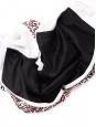 Robe manches courtes en mousseline blanche brodée rouge et noir Taille 36