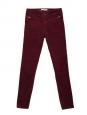 Burgundy red velvet slim fit pants Retail price €150 Size 38