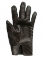 Dark brown leather gloves Size 7 large
