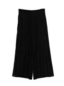 High waist black velvet cropped pants Size 34