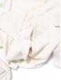 Pull col V en cachemire mélangé blanc crème Px boutique 200€ Taille 36