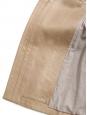 Manteau col claudine en cuir beige vanille Prix boutique 3000€ Taille 36/38