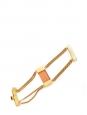Quartz-like stone golden brass cuff bracelet Retail price €150 NEW with tag Unique size