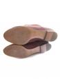 CHLOE Bottes cuissardes en suède marron et découpe festonnée Prix boutique 1200€ Taille 39,5