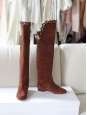chloe-brown-suede-scallop-cutout-over-the-knee-flat-boots-size-395