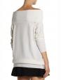 Pull épaules nues en laine blanc crème Px boutique 650€ Taille 36