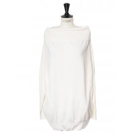Pull épaules nues en laine blanc crème Prix boutique 650€ Taille 36