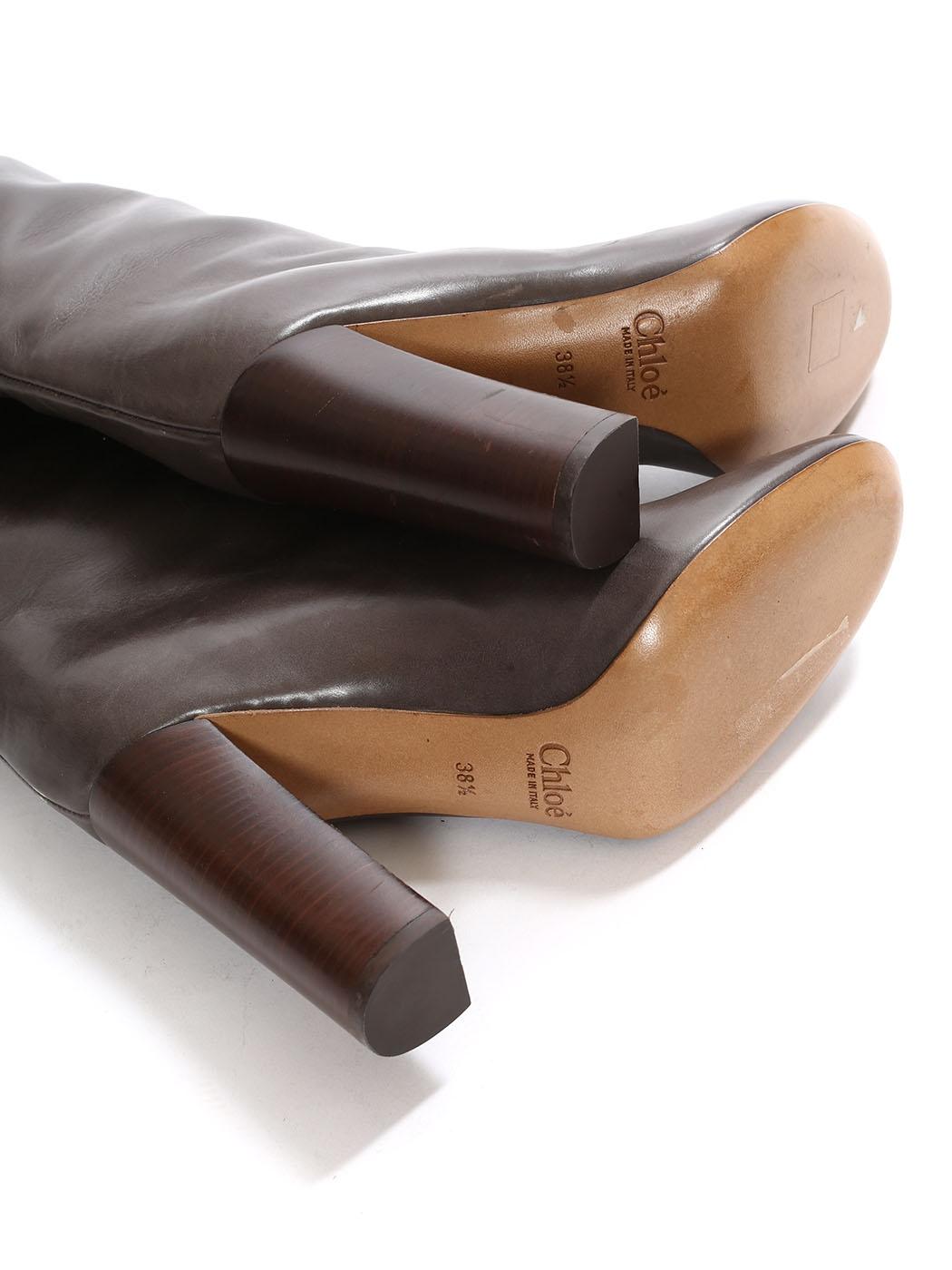 Chaussures femme talon cuir marron foncé taille 38