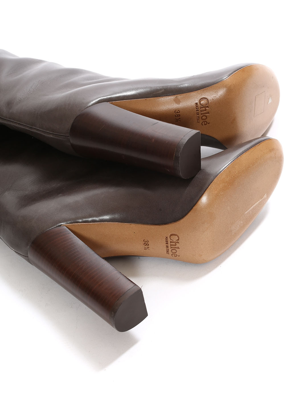 Louise Dark Leather Brown Chloe 6fvhhwq17 Wooden Retail Heel Paris Boots otrsCxhBQd
