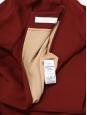 Robe manches longues en crêpe rouge amarante Px boutique 900€ Taille 36/38