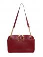 Sac LUCY porté épaule en cuir rouge pourpre NEUF Px boutique 2500€ Grand modèle