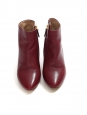 BECKIE Crimson red leather gold-trimmed ankle boots NEW Retail price €545 Size 36