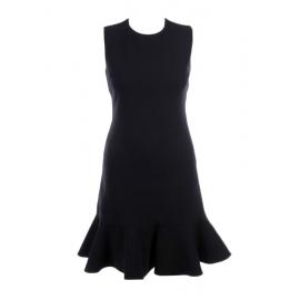 Robe sans manches évasée en crêpe de laine noir Px boutique 550€ Taille 36