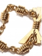 Gold brass bow and chain bracelet Retail price €350