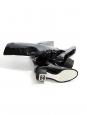 Bottes hautes en cuir verni noir Prix boutique 1300€ Taille 36,5