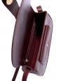 & A.P.C Sac Angèle à bandoulière en cuir rouge bordeaux et boucle dorée Px boutique 460€