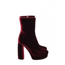 Burgundy red velvet platform boots NEW Retail price €700 Size 39