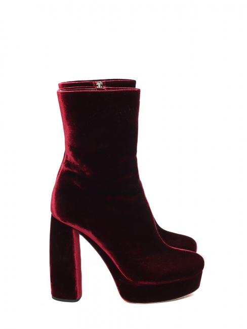 ed502f88bca0 Louise Paris - MIU MIU Burgundy red velvet platform boots NEW Retail ...