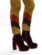 Burgundy red velvet platform boots NEW Retail price €700 Size 39