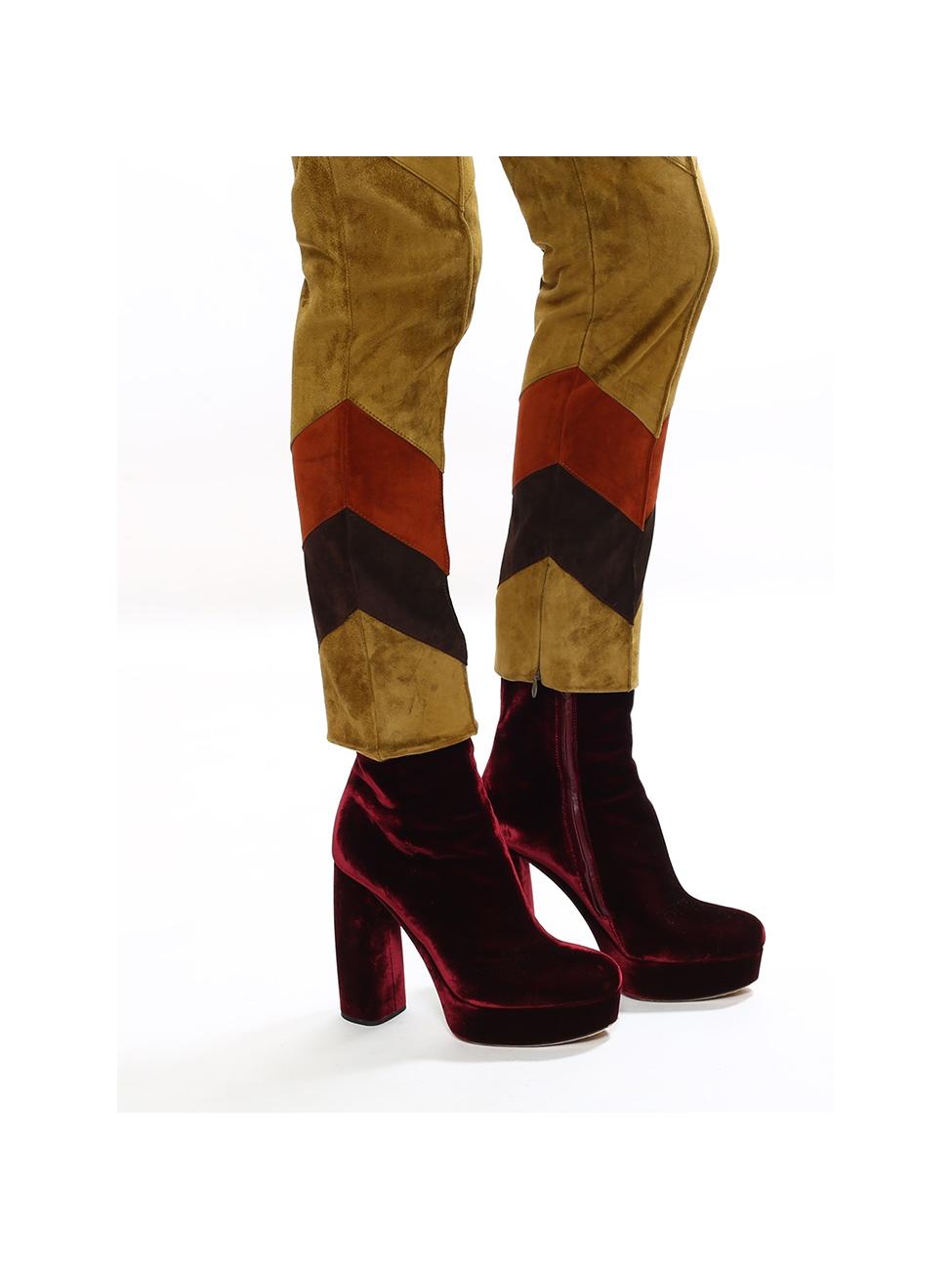 f6dbb042025d Louise Paris - MIU MIU Burgundy red velvet platform boots NEW Retail price  €700 Size 39