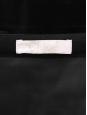 CHLOE Jupe taille haute droite en velours noir et bouton doré Prix boutique 700€ Taille 36