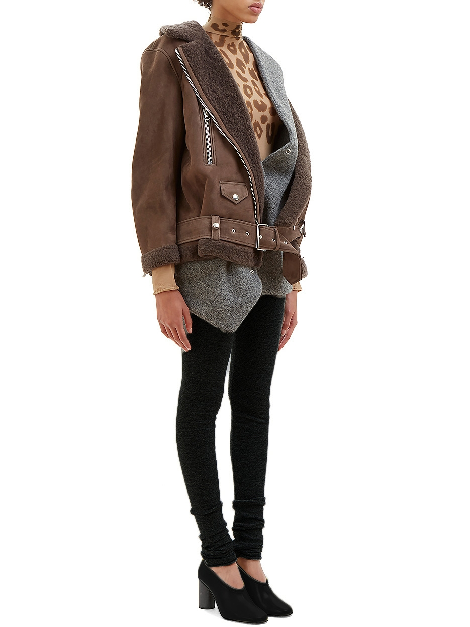 She Paris Louise En More Acne Sue Shearling Manteau Laine Studios PxfHqY