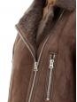 ACNE STUDIOS Manteau shearling More she sue en laine retournée marron chocolat Prix boutique 2300€ Taille 34 à 38