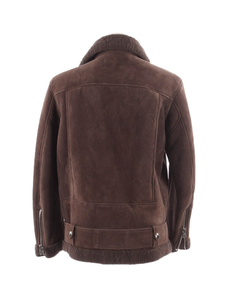 ... ACNE STUDIOS Manteau shearling More she sue en laine retournée marron  chocolat Prix boutique 2300€ ... e4f771d5536