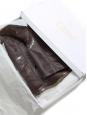 Bottes hauteur genoux plates en cuir marron brun Prix boutique 850€ Taille 39