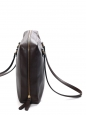 Dark brown grained leather shoulder bag (briefcase) Retail price 1750€