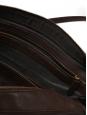 Sac porté épaule pour le bureau (ordinateur) en cuir grainé marron chocolat Prix boutique 1700€