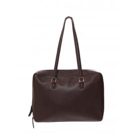Sac porté épaule en cuir grainé marron chocolat Prix boutique 1700€