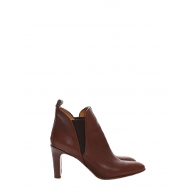 Bottines à talon PIPER low boots en cuir marron foncé Px boutique 640€ Taille 39,5