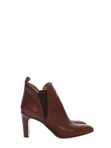 b2b8dd1a03fb9b Bottines à talon PIPER low boots en cuir marron foncé Px boutique 640€  Taille 39