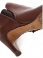 PIPER dark brown leather heel ankle boots Retail price €640 Size 39.5