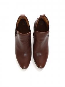 Bottines à talon PIPER low boots en cuir marron foncé Px boutique 640€ Taille 39,5
