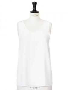 Débardeur en crêpe de soie blanc ivoire Px boutique 390€ Taille 36