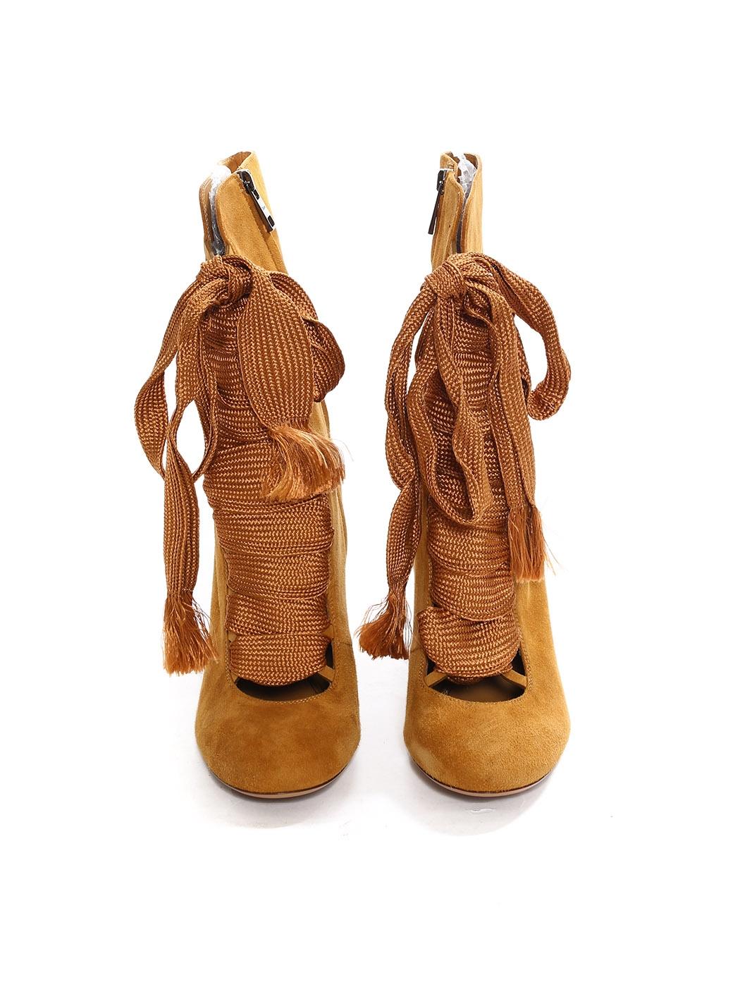 f5380dd7 Louise Paris - CHLOE HARPER Tan brown suede leather wooden heel ...