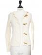 Gilet en laine tressée chaude blanc écru Prix boutique 159€ Taille 34