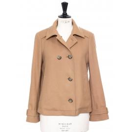 Manteau caban court en laine camel beige Prix boutique 350€ Taille 38