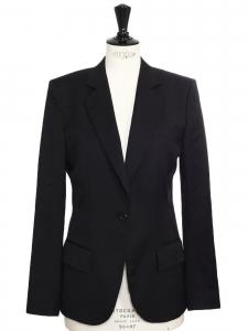 Black wool classic blazer jacket Retail price €950 Size 40