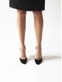 Escarpins échancrés en velours noir Px boutique 500€ Taille 40