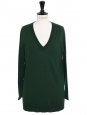 English green wool V neck sweater Retail price €1000 Size 38/40
