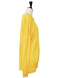 Yellow new wool and silk long sleeves sweater Retail price €600 Size 40