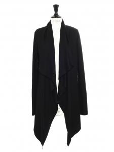 Sonar black draped wool long cardigan Retail price €350 Size S