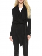 Sonar black draped wool long cardigan Retail price €350 Size S