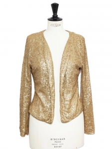 Blazer jacket embroidered with gold sequins Size 36