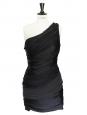 Robe de cocktail asymétrique en soie noire NEUVE Px boutique 1500€ Taille 36/38
